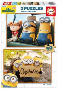 Minions puslespil med 2 x 50 brikker