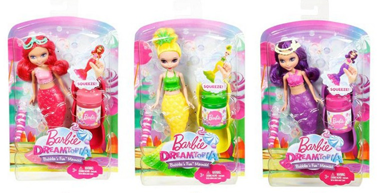 Barbie dreamtopia bobble havefrue
