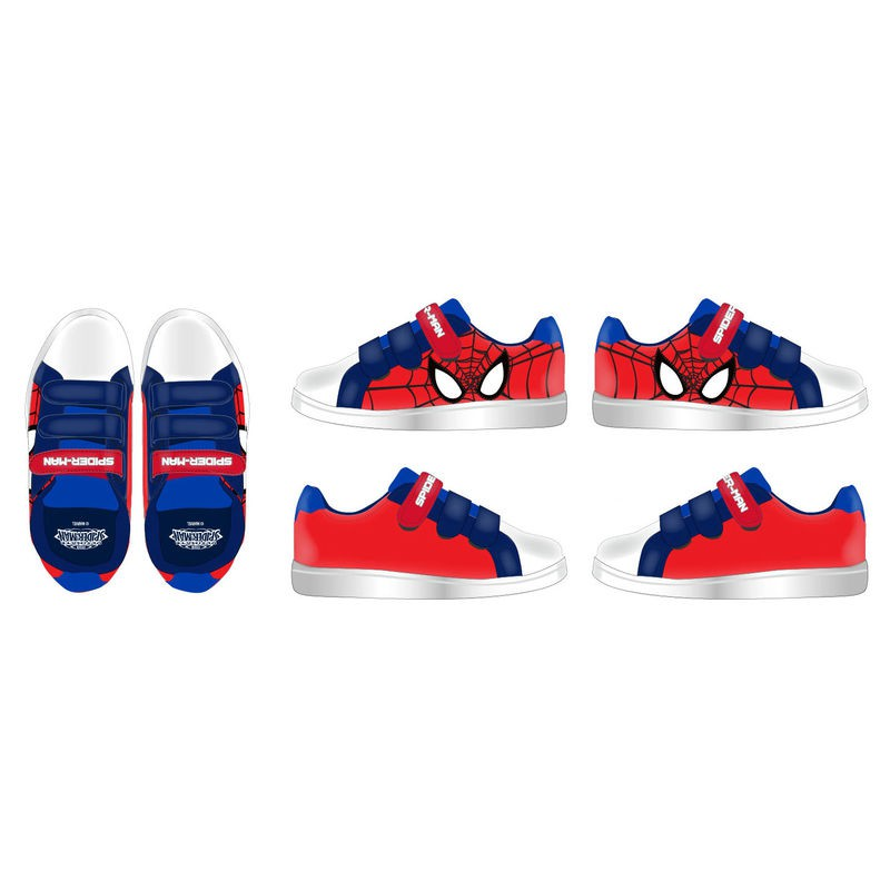 Spiderman sneakers med velcro