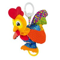 "Lamaze Barnyard Bob the Rooster ""clips on"" base."