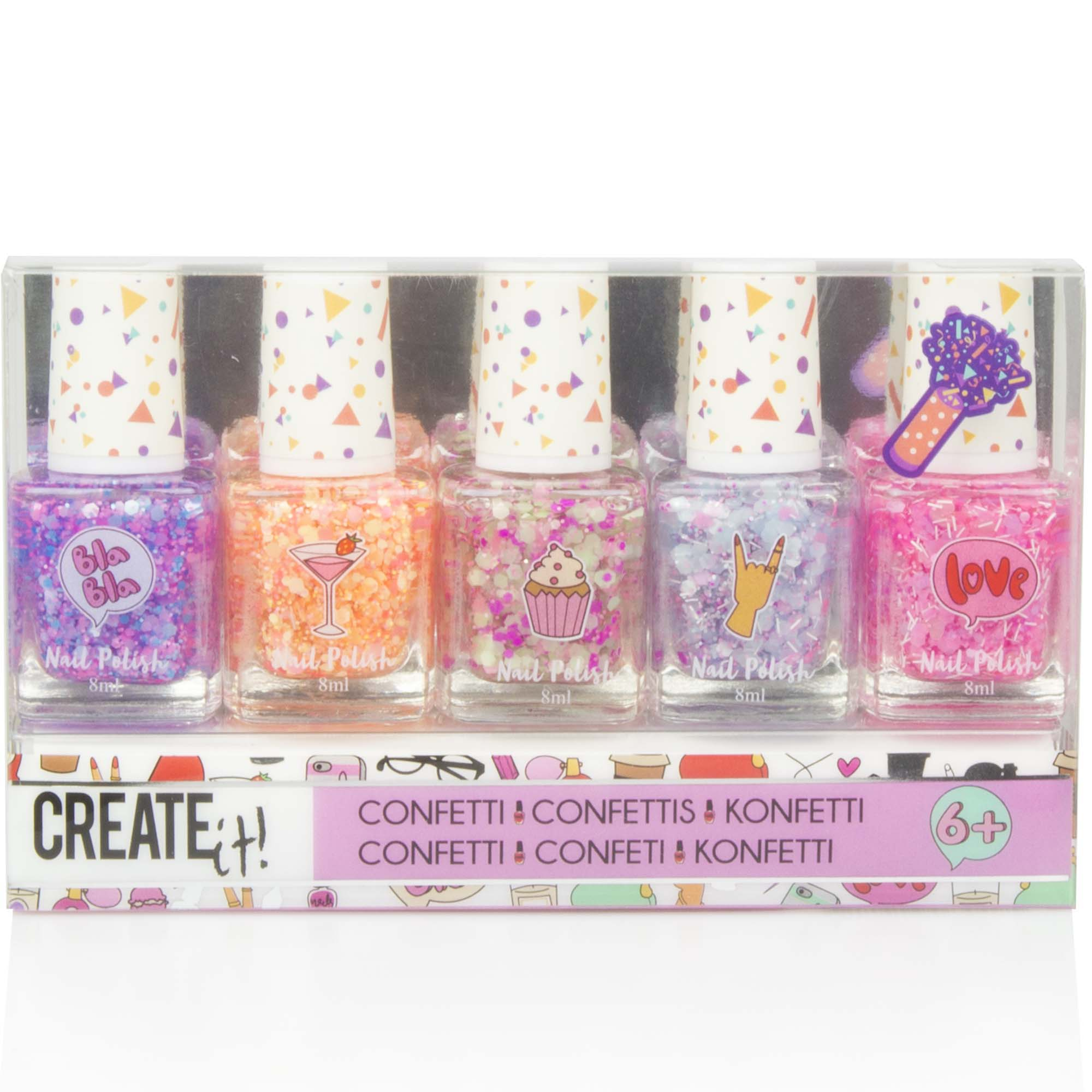 Create It! Negllak 5 pak med glitter
