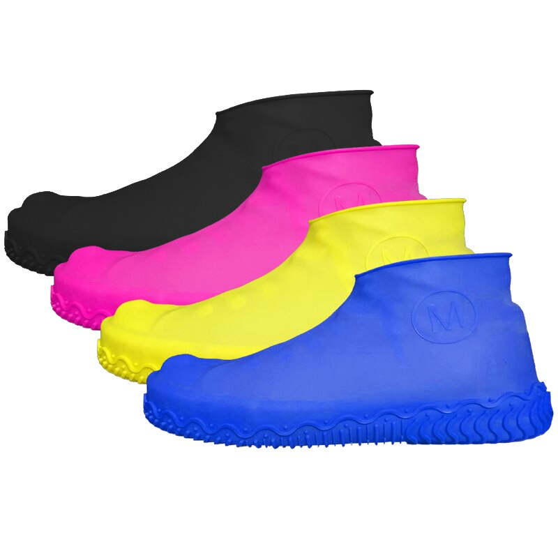 1 pair of reusable silicone cover waterproof and non-slip rubber rain shoe cover