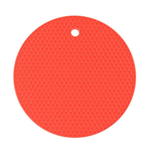 Open image in slideshow, Round Heat Resistant Silicone Mat Drink Cup Coasters Kitchen Accessories