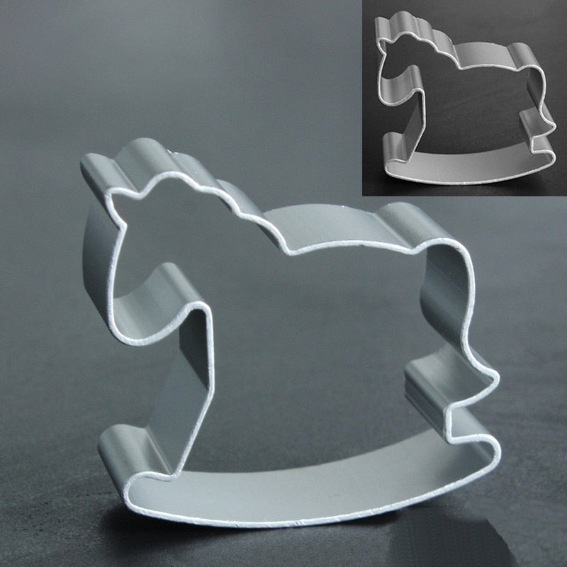 Cookie Cutters Moulds Aluminum Alloy Cute Animal Shape Biscuit Mold Kitchen Tools