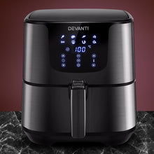 Load image into Gallery viewer, Devanti Air Fryer 7L LCD Fryers Oven Airfryer Kitchen Healthy Cooker Stainless Steel