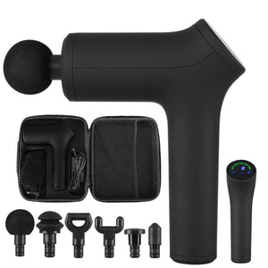 Massage Gun Electric LCD Massager Muscle Tissue 6 Heads Percussion Therapy AU - www.cronstore.com.au
