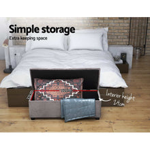 Load image into Gallery viewer, Artiss Storage Ottoman Blanket Box Velvet Foot Stool Rest Chest Couch Toy Grey