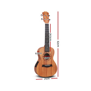 ALPHA 23 Inch Concert Ukulele Electric Mahogany Ukeleles Uke Hawaii Guitar with