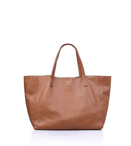 VIOLET HORIZONTAL TOTE LEATHER TAN