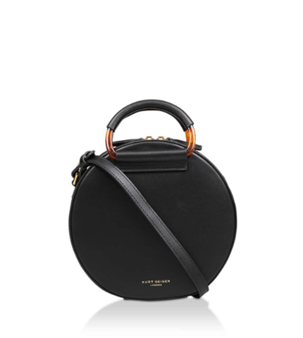HARRIET MINI ROUND XBDY PELLE NERO