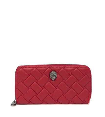 K ZIP AROUND WALLET EAGLE ROSSO