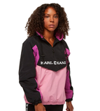 RETRO BLOCK WINDBREAKER NERO ROSA