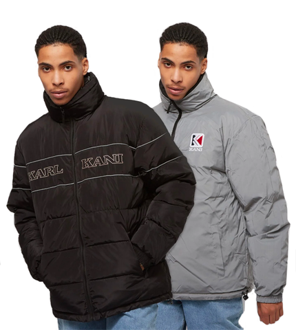 RETRO REVERSIBLE PUFFER JACKET NERO