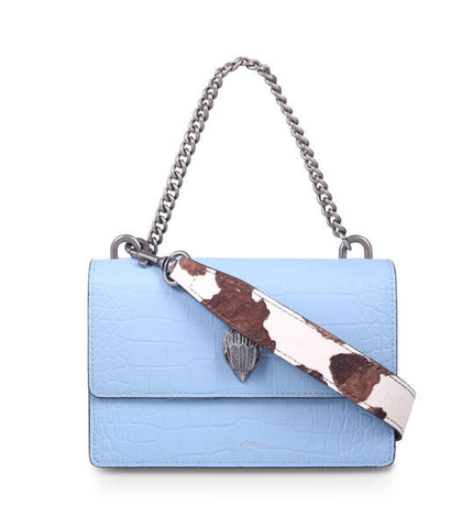 SHOREDITCH CROSS BODY PELLE AZZURRO