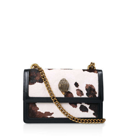 SHOREDITCH SM CROSS BODY PELLE NERO BIANCO