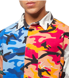SMALL SIGNATURE BLOCK CAMOUFLAGE SHIRT