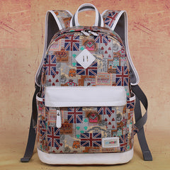 Preppy Style Print School Backpack Travel Bag - Oh Yours Fashion - 5