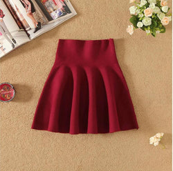 Fashion High Waist Knit Mini Fluffy Skirt - Oh Yours Fashion - 2