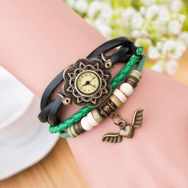 Heart With Wings Multilayer Watch - Oh Yours Fashion - 7