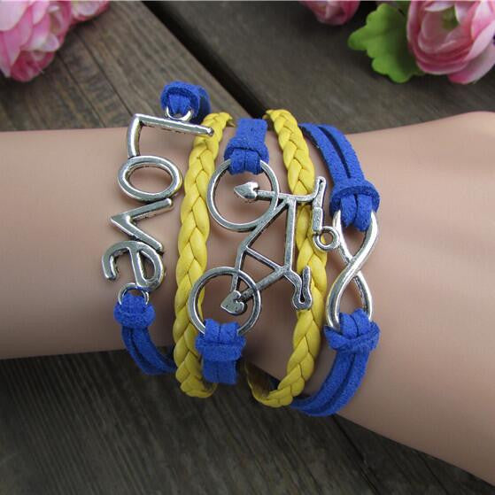 LOVE Bicicyle Fashion Multielement Colored Bracelet - Oh Yours Fashion - 1