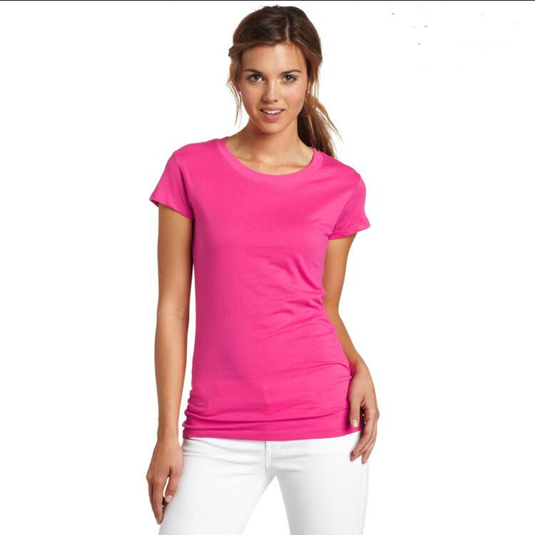 Fashion Pure Color Short Sleeve Soft Cotton T-Shirt - Oh Yours Fashion - 9