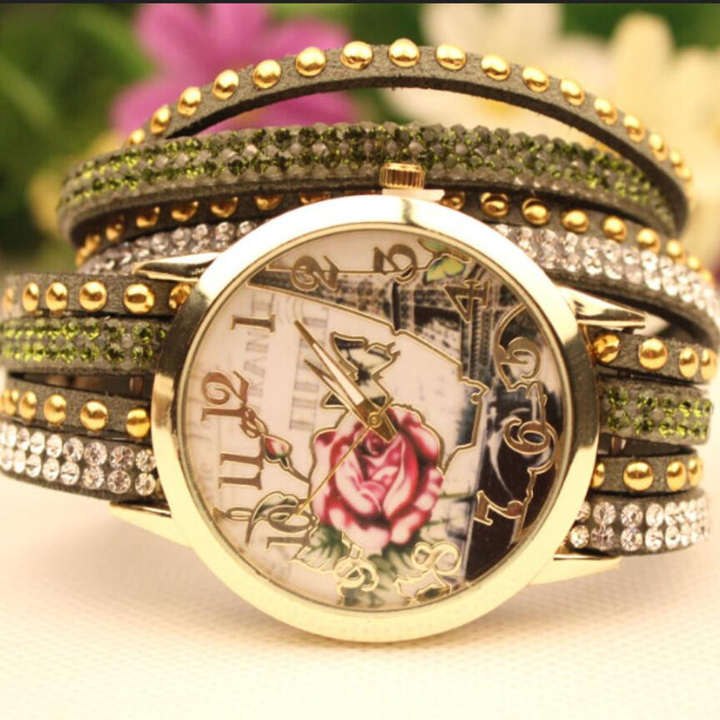 Flower Car Pattern Lady's Watch - Oh Yours Fashion - 6