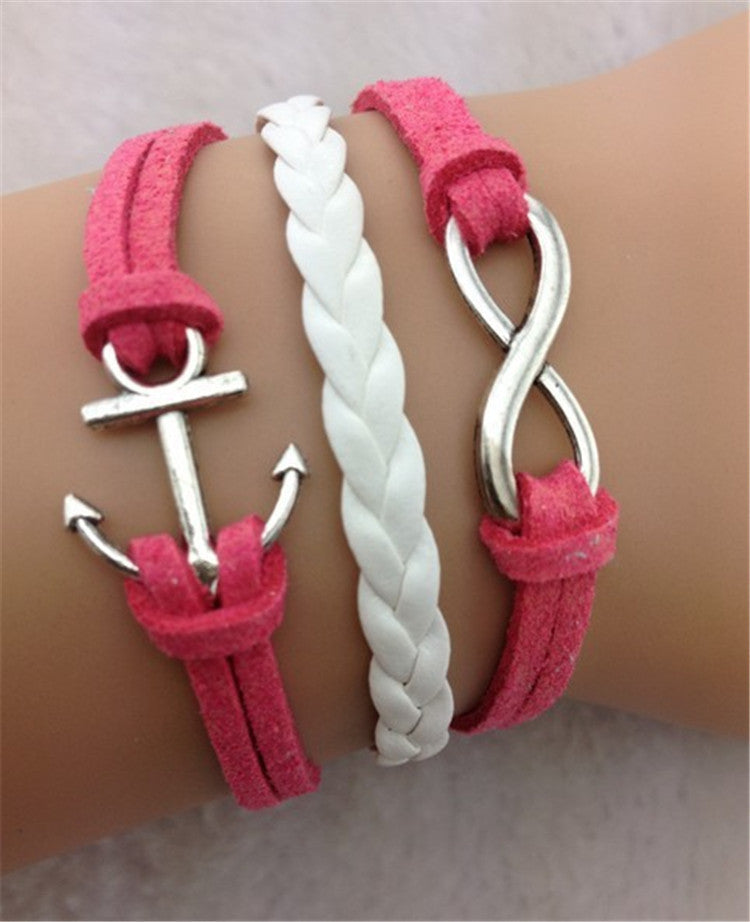 Beautiful Anchor Number Eight Multilayer Christmas Bracelet - Oh Yours Fashion