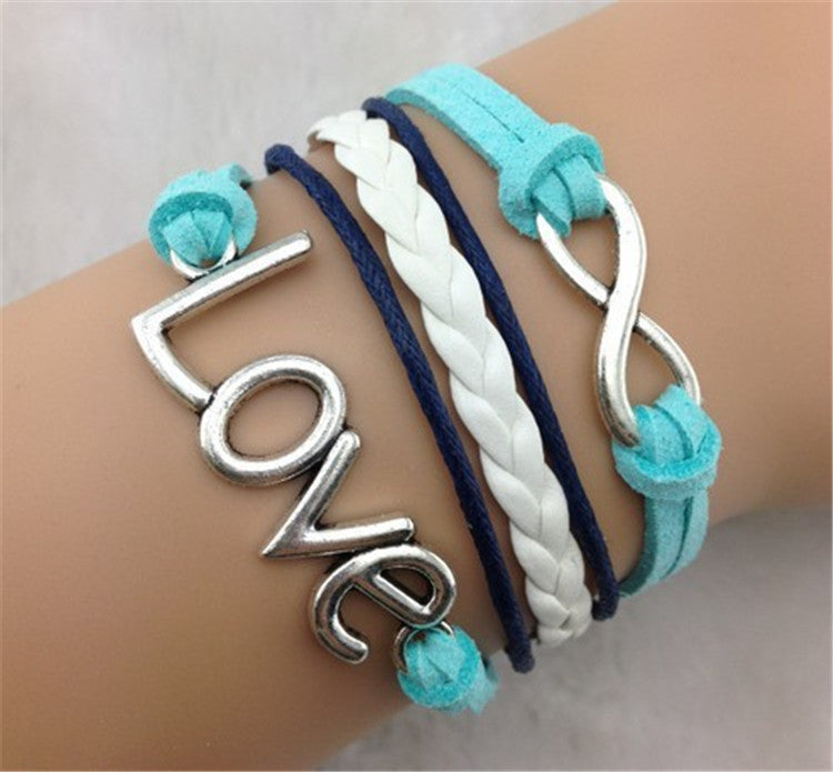 Joker LOVE Retro Eight Multi-layer Bracelet - Oh Yours Fashion