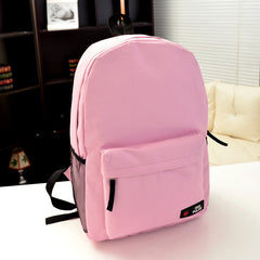 Pure Color Korean Style Flexo Backpack - Oh Yours Fashion - 15