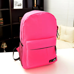 Pure Color Korean Style Flexo Backpack - Oh Yours Fashion - 13