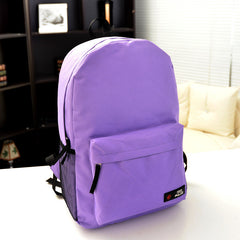 Pure Color Korean Style Flexo Backpack - Oh Yours Fashion - 12