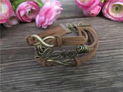 Fashion Brown Love Multilayer Bracelet - Oh Yours Fashion - 2