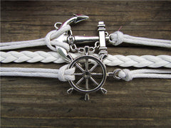 Bright Anchor Hand-made Leather Bracelet - Oh Yours Fashion - 2