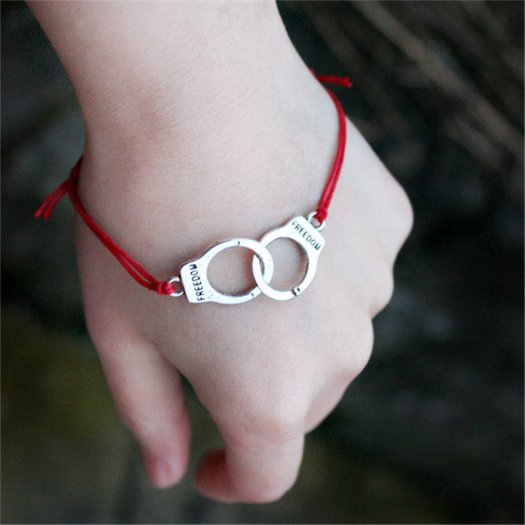 Handcuffs Colored Wax Line Fashion Bracelet - Oh Yours Fashion