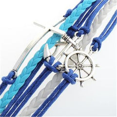 Cross Anchor Multielement Handmade Fashion Bracelet - Oh Yours Fashion - 3