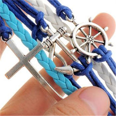 Cross Anchor Multielement Handmade Fashion Bracelet - Oh Yours Fashion - 2
