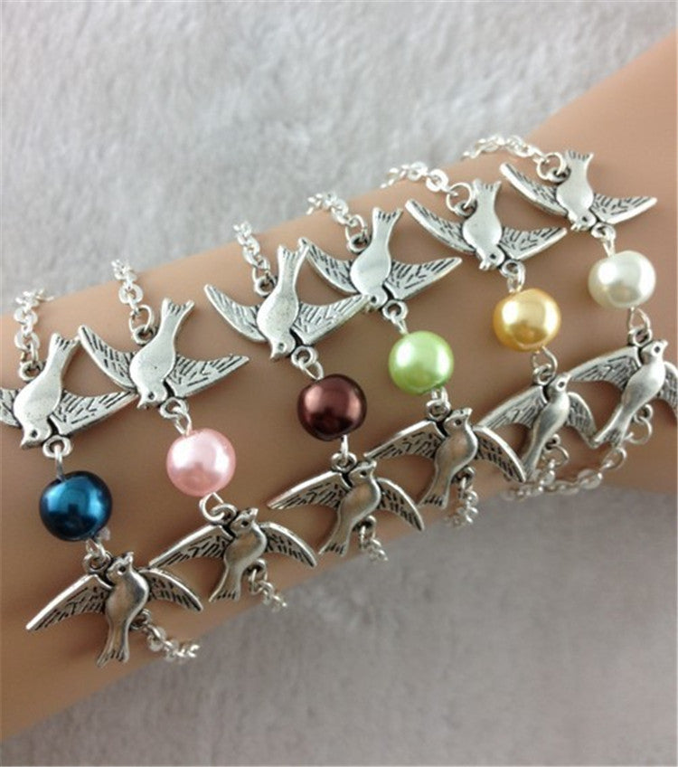 Retro Style Dove Chain Bracelet - Oh Yours Fashion