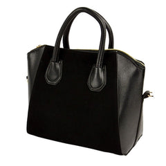 New Fashion Women's Nubbuck Synthetic Leather Smile Hand Bag Cross Shoulder Bag - Oh Yours Fashion - 2