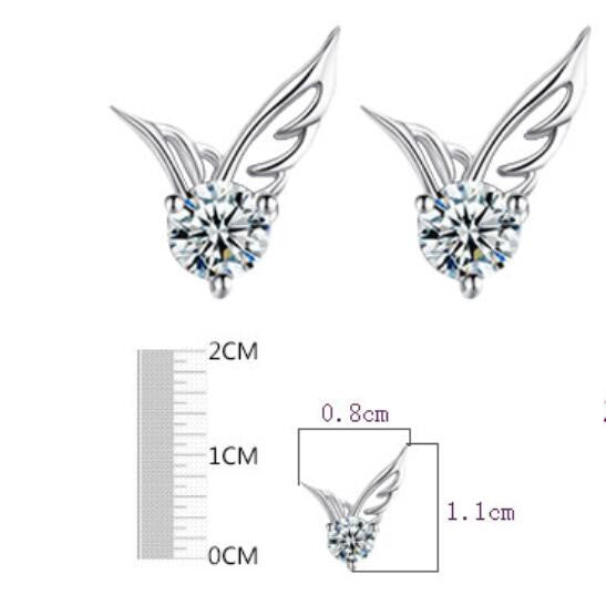 Fashion Korea Style Angel's Wing Earrings - Oh Yours Fashion - 4