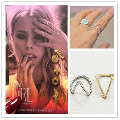 Simple Fashion V-Shaped Ring - Oh Yours Fashion - 1