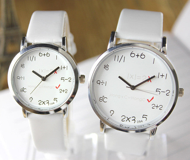 Fashion Big Dial Couple Leather Watch - Oh Yours Fashion - 2