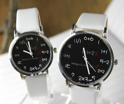 Fashion Big Dial Couple Leather Watch - Oh Yours Fashion - 1