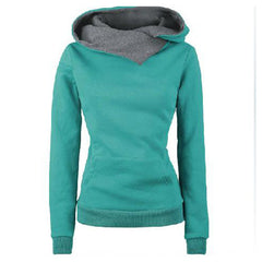 Stylish High Neck Long Sleeves Cotton Hooded Coat