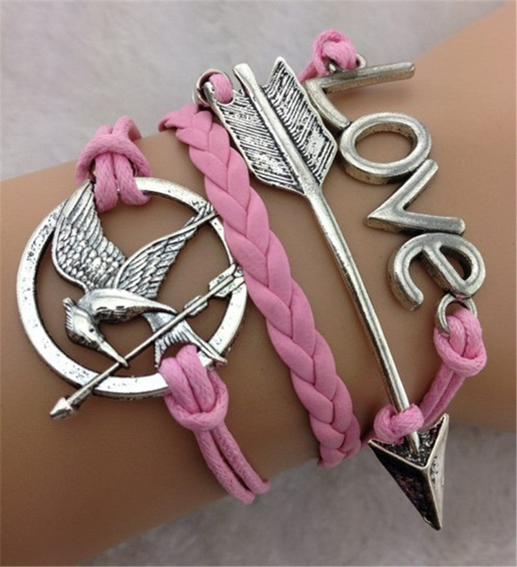 LOVE Arrow Birds Fashion Bracelet - Oh Yours Fashion