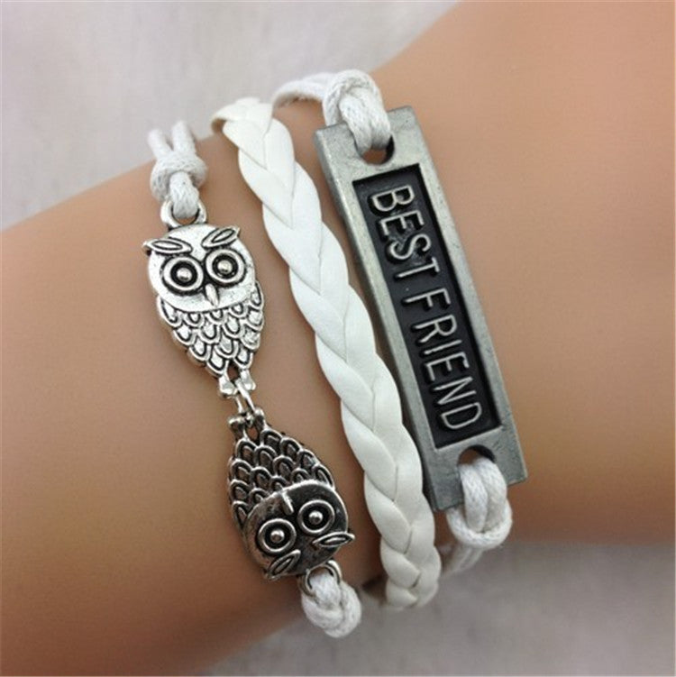 Owl Bestfriend Wax String Fashion Bracelet - Oh Yours Fashion