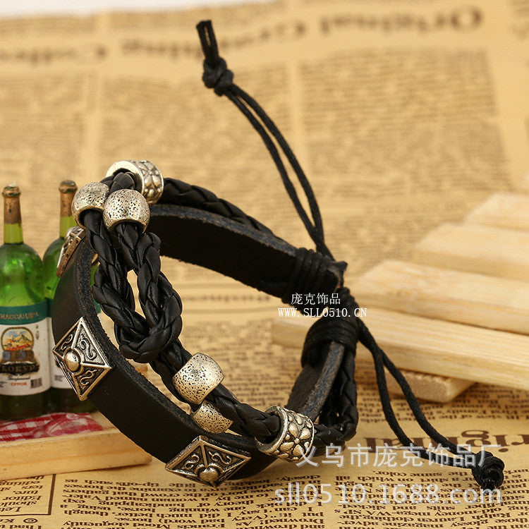 European Popular Leather Personality Bracelet - Oh Yours Fashion - 2