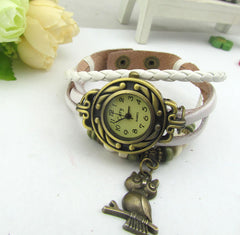 Retro Style Owl Pendant Woven Watch - Oh Yours Fashion - 1