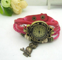 Retro Style Owl Pendant Woven Watch - Oh Yours Fashion - 2