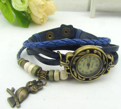 Retro Style Owl Pendant Woven Watch - Oh Yours Fashion - 3