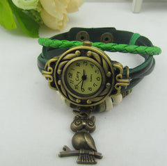 Retro Style Owl Pendant Woven Watch - Oh Yours Fashion - 5
